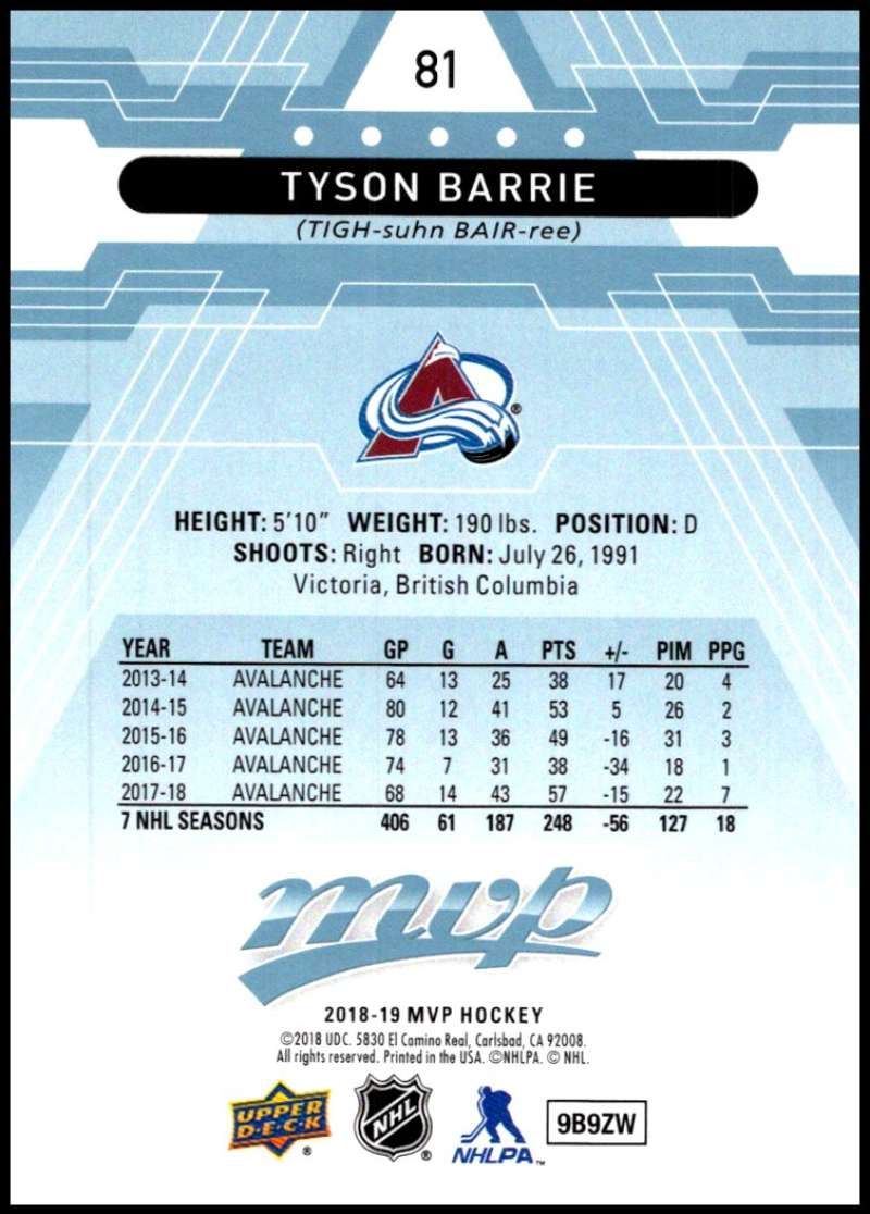 2018-19-Upper-Deck-MVP-Blue-Factory-Set-Parallels-Pick-From-List-With-Rookies miniature 163