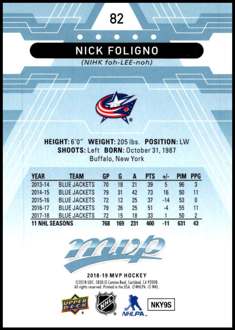 2018-19-Upper-Deck-MVP-Blue-Factory-Set-Parallels-Pick-From-List-With-Rookies miniature 165