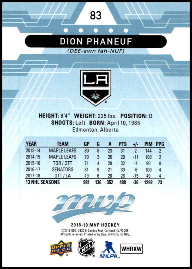 2018-19-Upper-Deck-MVP-Blue-Factory-Set-Parallels-Pick-From-List-With-Rookies miniature 167