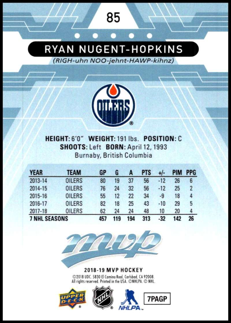 2018-19-Upper-Deck-MVP-Blue-Factory-Set-Parallels-Pick-From-List-With-Rookies miniature 171