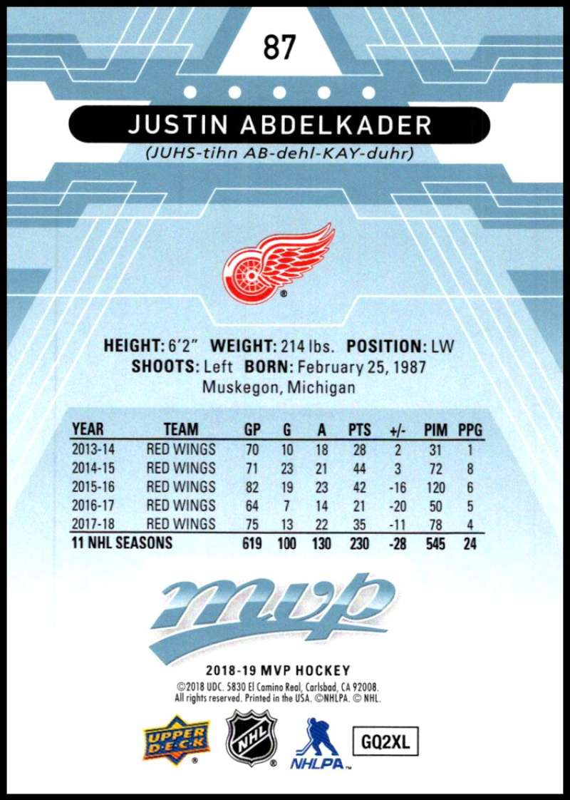 2018-19-Upper-Deck-MVP-Blue-Factory-Set-Parallels-Pick-From-List-With-Rookies miniature 175
