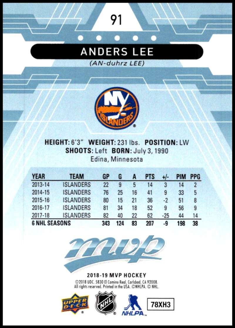 2018-19-Upper-Deck-MVP-Blue-Factory-Set-Parallels-Pick-From-List-With-Rookies miniature 183