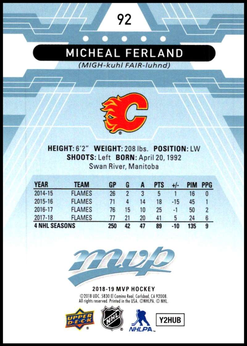 2018-19-Upper-Deck-MVP-Blue-Factory-Set-Parallels-Pick-From-List-With-Rookies miniature 185