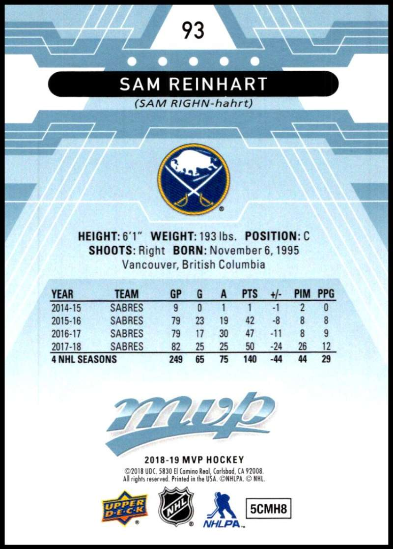 2018-19-Upper-Deck-MVP-Blue-Factory-Set-Parallels-Pick-From-List-With-Rookies miniature 187