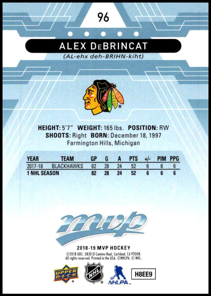 2018-19-Upper-Deck-MVP-Blue-Factory-Set-Parallels-Pick-From-List-With-Rookies miniature 193