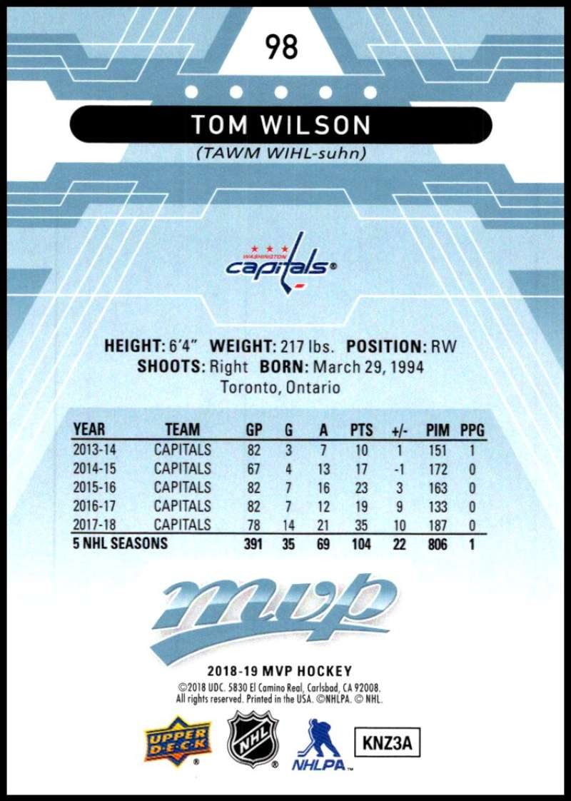 2018-19-Upper-Deck-MVP-Blue-Factory-Set-Parallels-Pick-From-List-With-Rookies miniature 197