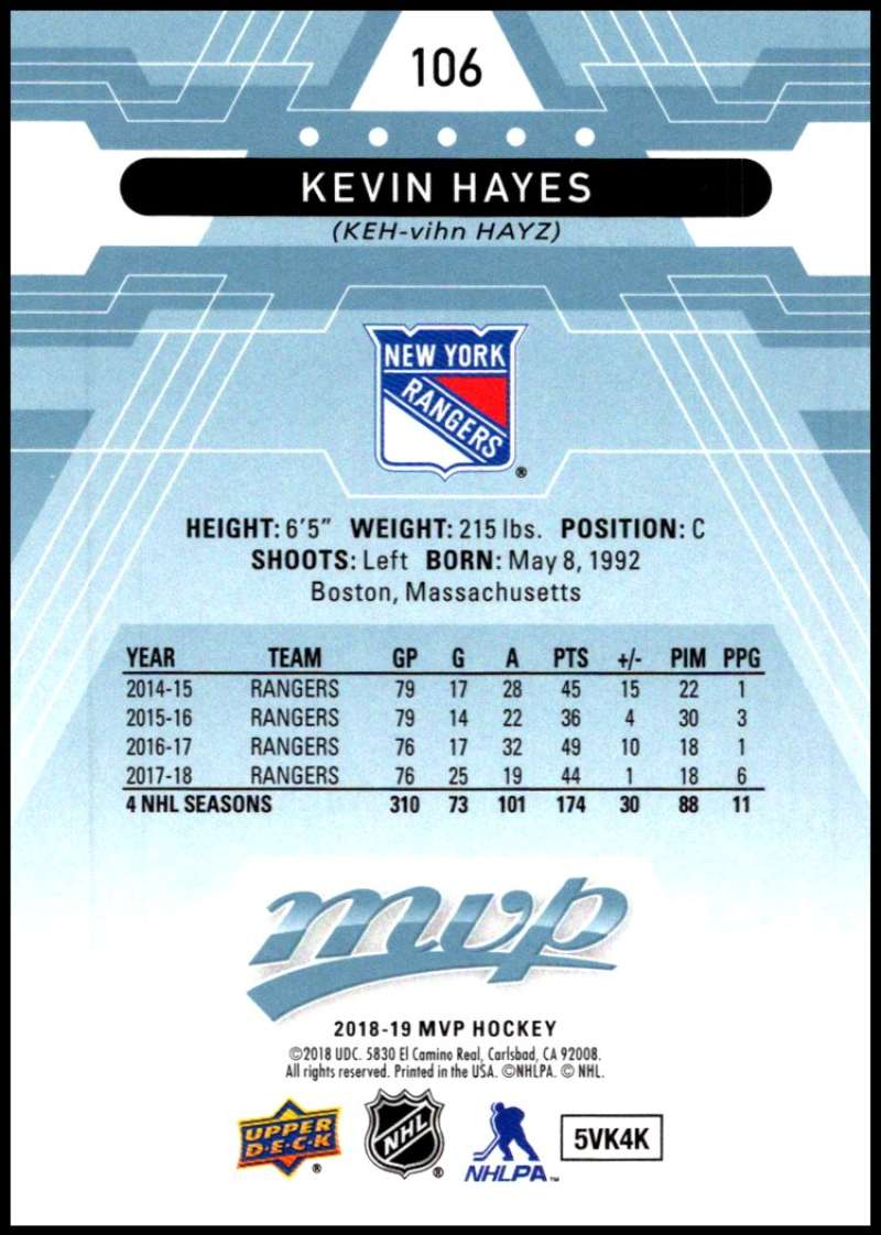 2018-19-Upper-Deck-MVP-Blue-Factory-Set-Parallels-Pick-From-List-With-Rookies miniature 213
