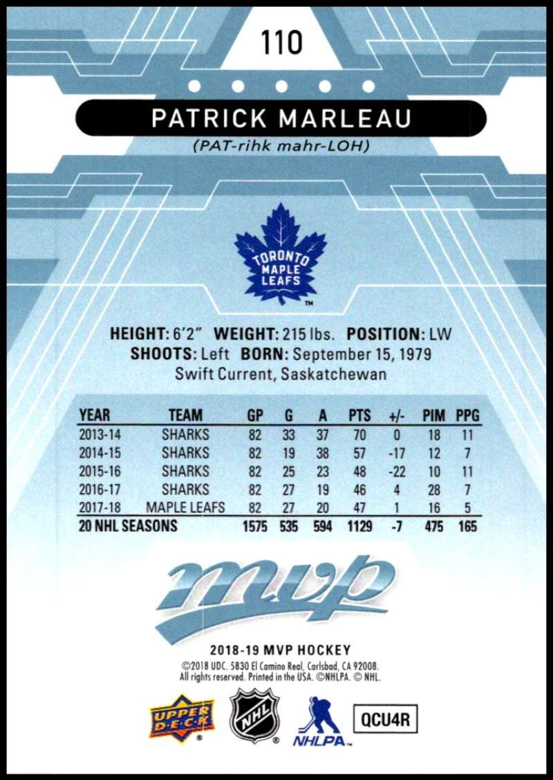 2018-19-Upper-Deck-MVP-Blue-Factory-Set-Parallels-Pick-From-List-With-Rookies miniature 221
