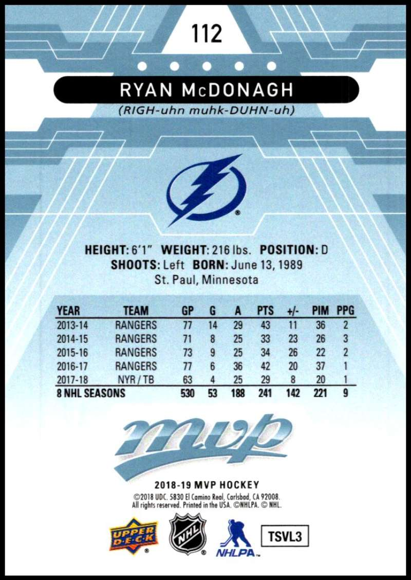 2018-19-Upper-Deck-MVP-Blue-Factory-Set-Parallels-Pick-From-List-With-Rookies miniature 225