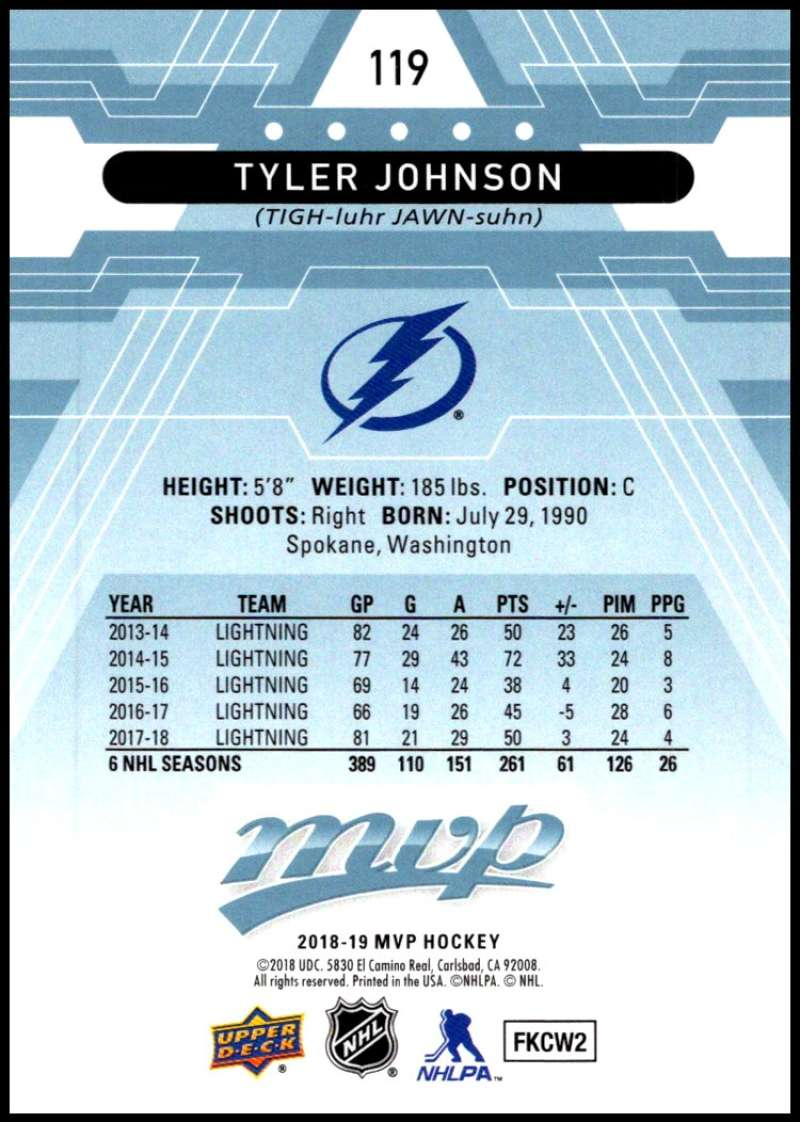 2018-19-Upper-Deck-MVP-Blue-Factory-Set-Parallels-Pick-From-List-With-Rookies miniature 239