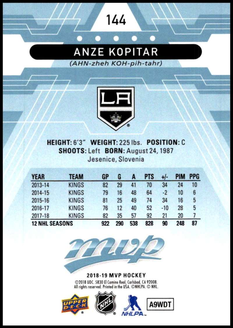 2018-19-Upper-Deck-MVP-Blue-Factory-Set-Parallels-Pick-From-List-With-Rookies miniature 289