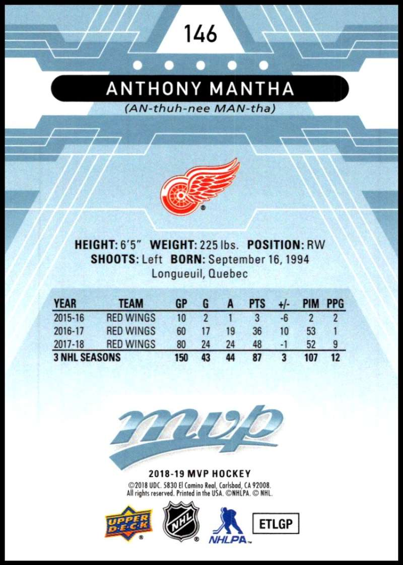 2018-19-Upper-Deck-MVP-Blue-Factory-Set-Parallels-Pick-From-List-With-Rookies miniature 293