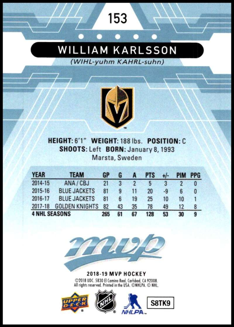 2018-19-Upper-Deck-MVP-Blue-Factory-Set-Parallels-Pick-From-List-With-Rookies miniature 307