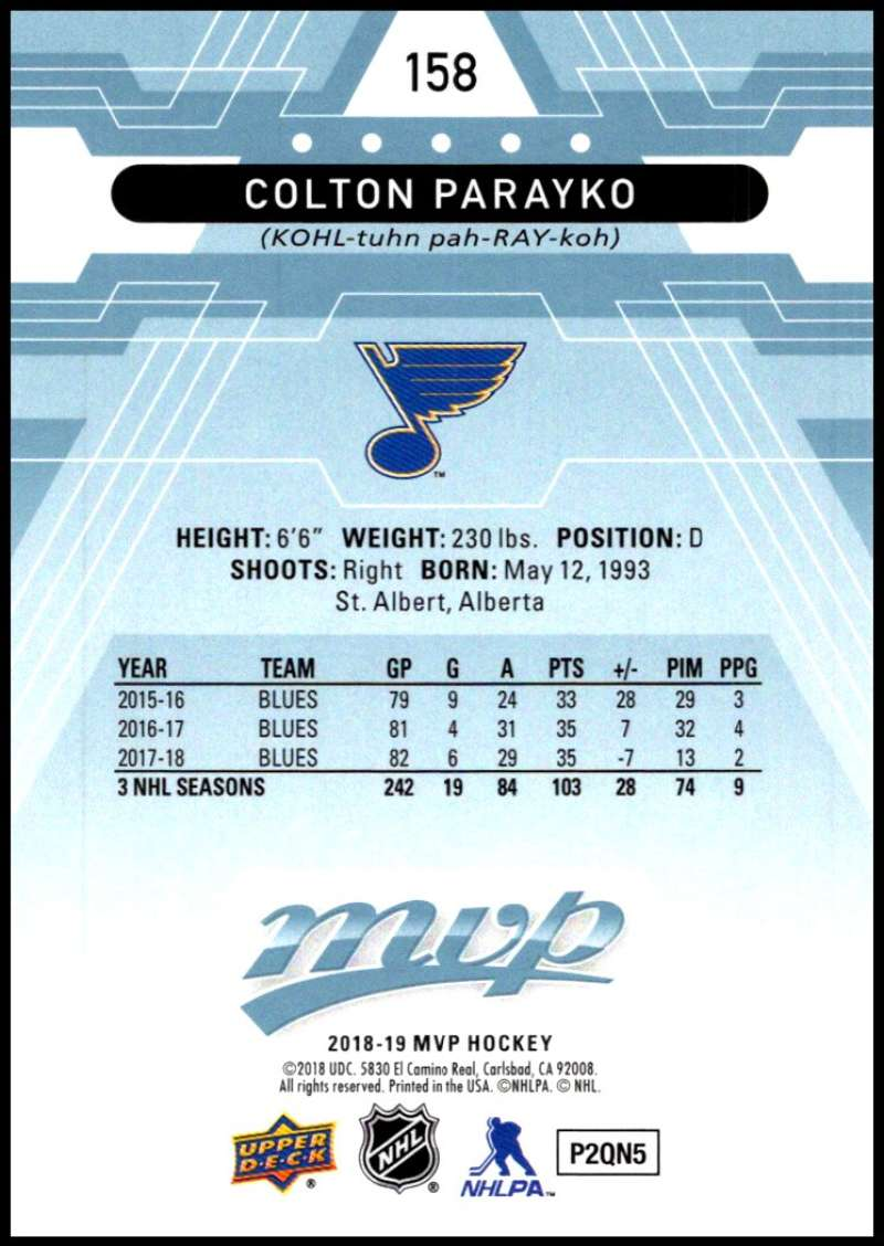 2018-19-Upper-Deck-MVP-Blue-Factory-Set-Parallels-Pick-From-List-With-Rookies miniature 317
