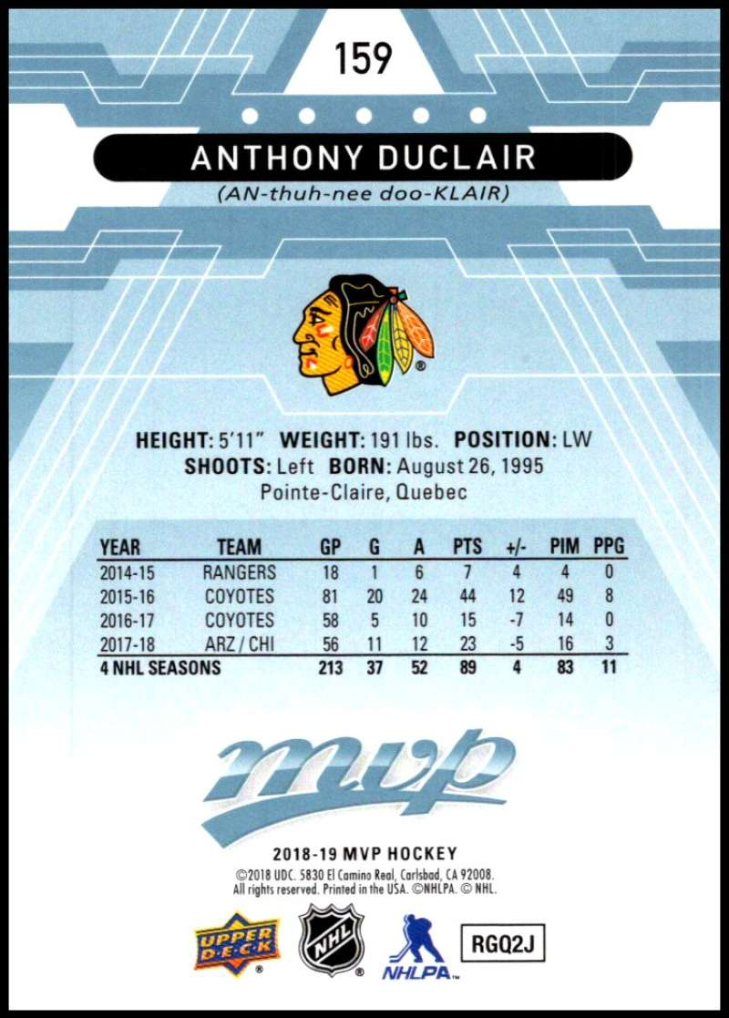 2018-19-Upper-Deck-MVP-Blue-Factory-Set-Parallels-Pick-From-List-With-Rookies miniature 319