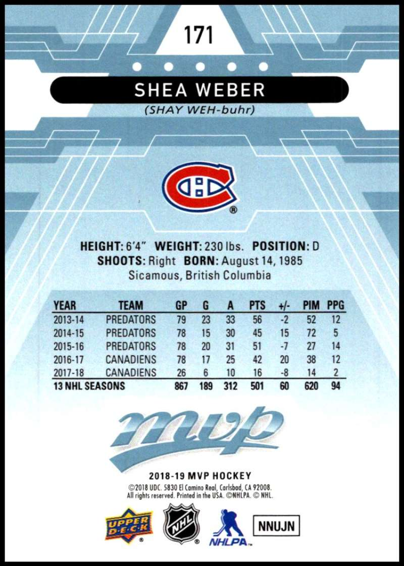 2018-19-Upper-Deck-MVP-Blue-Factory-Set-Parallels-Pick-From-List-With-Rookies miniature 343