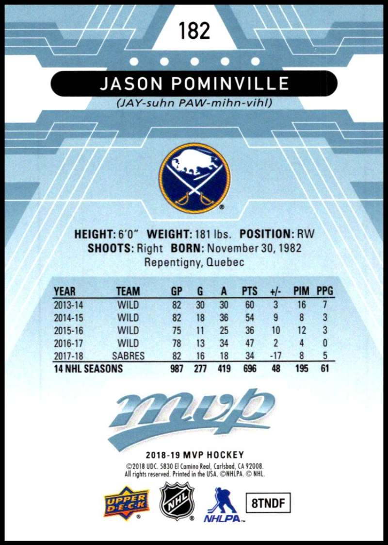 2018-19-Upper-Deck-MVP-Blue-Factory-Set-Parallels-Pick-From-List-With-Rookies miniature 365