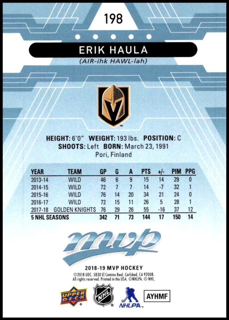 2018-19-Upper-Deck-MVP-Blue-Factory-Set-Parallels-Pick-From-List-With-Rookies miniature 397