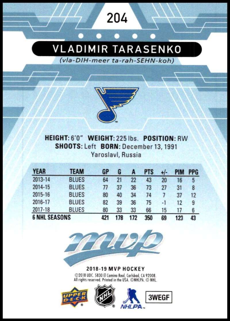 2018-19-Upper-Deck-MVP-Blue-Factory-Set-Parallels-Pick-From-List-With-Rookies miniature 409
