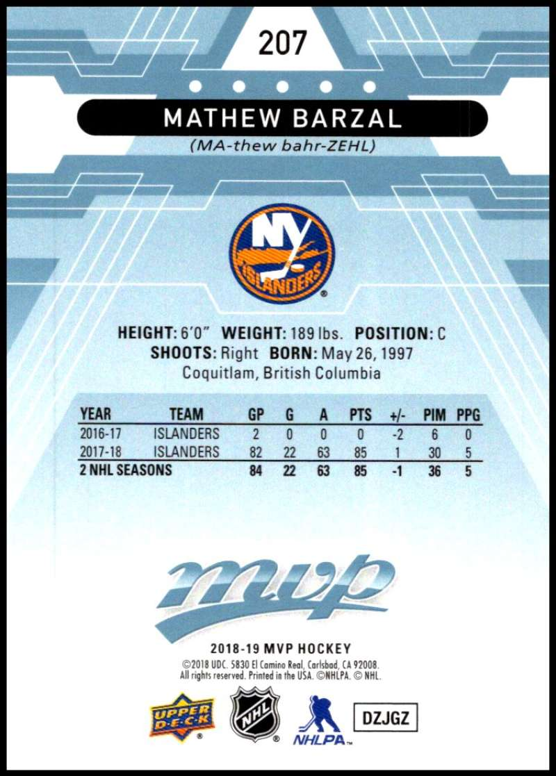 2018-19-Upper-Deck-MVP-Blue-Factory-Set-Parallels-Pick-From-List-With-Rookies miniature 415