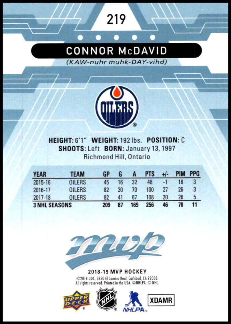 2018-19-Upper-Deck-MVP-Blue-Factory-Set-Parallels-Pick-From-List-With-Rookies miniature 439