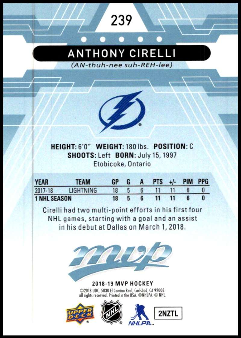 2018-19-Upper-Deck-MVP-Blue-Factory-Set-Parallels-Pick-From-List-With-Rookies miniature 477