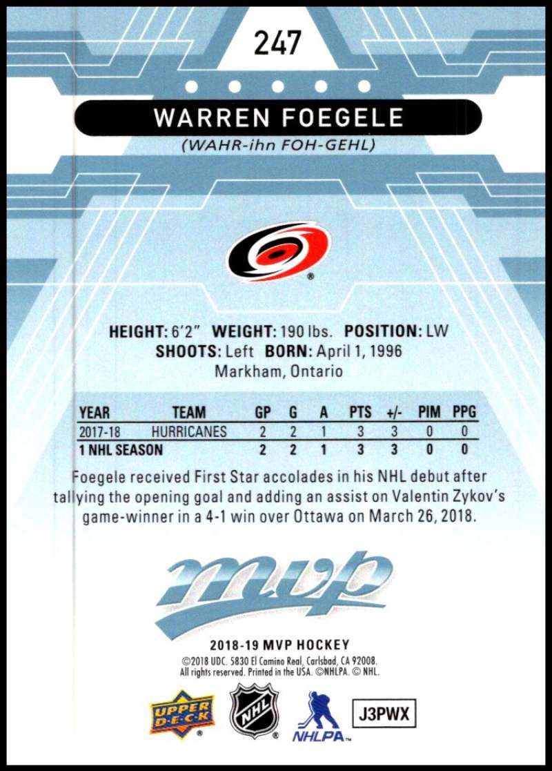 2018-19-Upper-Deck-MVP-Blue-Factory-Set-Parallels-Pick-From-List-With-Rookies miniature 493