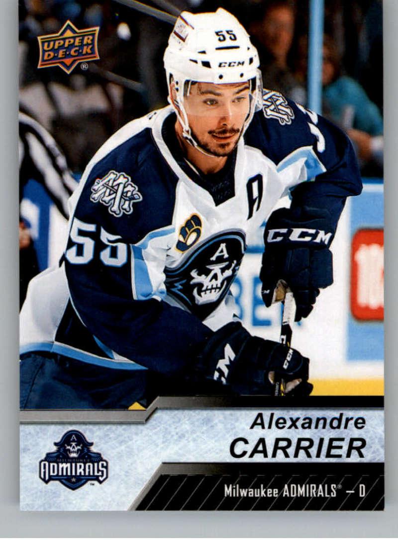 2018-19 Upper Deck AHL Hockey #20 Alexandre Carrier Milwaukee Admirals