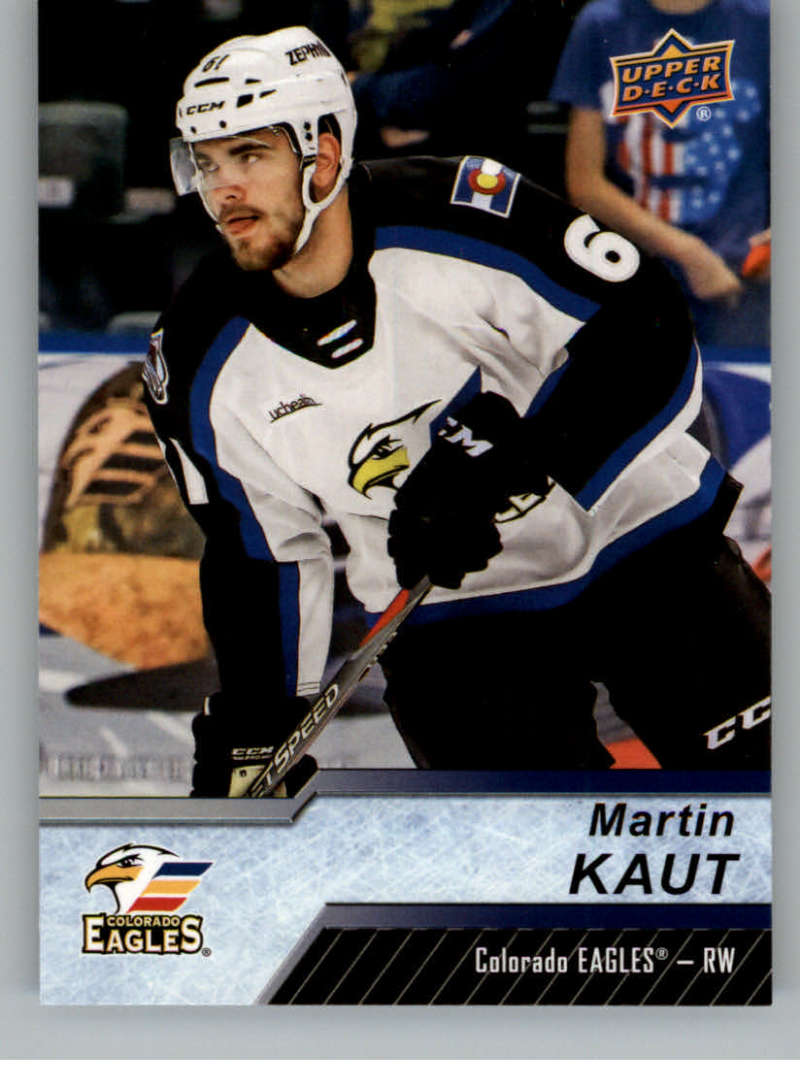 2018-19 Upper Deck AHL Hockey #113 Martin Kaut RC Rookie Colorado Eagles SP Short Print