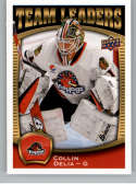 2018-19 UD AHL Hockey Team Leaders #TL-3 Collin Delia Rockford IceHogs  Official Upper Deck American Hockey League Trading Card