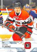 2018-19 UD CHL #38 Graeme Clarke Ottawa 67's  Official Canadien Hockey League Trading Card by Upper Deck