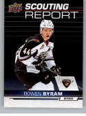 2018-19 UD CHL Scouting Report Hockey #SR-3 Bowen Byram Vancouver Giants  Official Canadian Hockey League Trading Card From Upper Deck