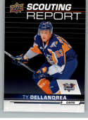 2018-19 UD CHL Scouting Report Hockey #SR-6 Ty Dellandrea Flint Firebirds  Official Canadian Hockey League Trading Card From Upper Deck