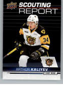 2018-19 UD CHL Scouting Report Hockey #SR-7 Arthur Kaliyev Hamilton Bulldogs  Official Canadian Hockey League Trading Card From Upper Deck