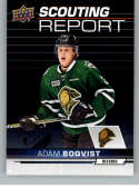 2018-19 UD CHL Scouting Report Hockey #SR-15 Adam Boqvist London Knights  Official Canadian Hockey League Trading Card From Upper Deck