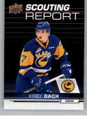 2018-19 UD CHL Scouting Report Hockey #SR-16 Kirby Dach Saskatoon Blades  Official Canadian Hockey League Trading Card From Upper Deck