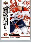 2018-19 UD CHL Top Level Talent Hockey #TL-6 Dylan Cozens Lethbridge Hurricanes  Official Canadian Hockey League Trading Card From Upper Deck