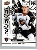 2018-19 UD CHL Top Level Talent Hockey #TL-14 Bowen Byram Vancouver Giants  Official Canadian Hockey League Trading Card From Upper Deck