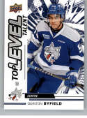 2018-19 UD CHL Top Level Talent Hockey #TL-15 Quinton Byfield Sudbury Wolves  Official Canadian Hockey League Trading Card From Upper Deck