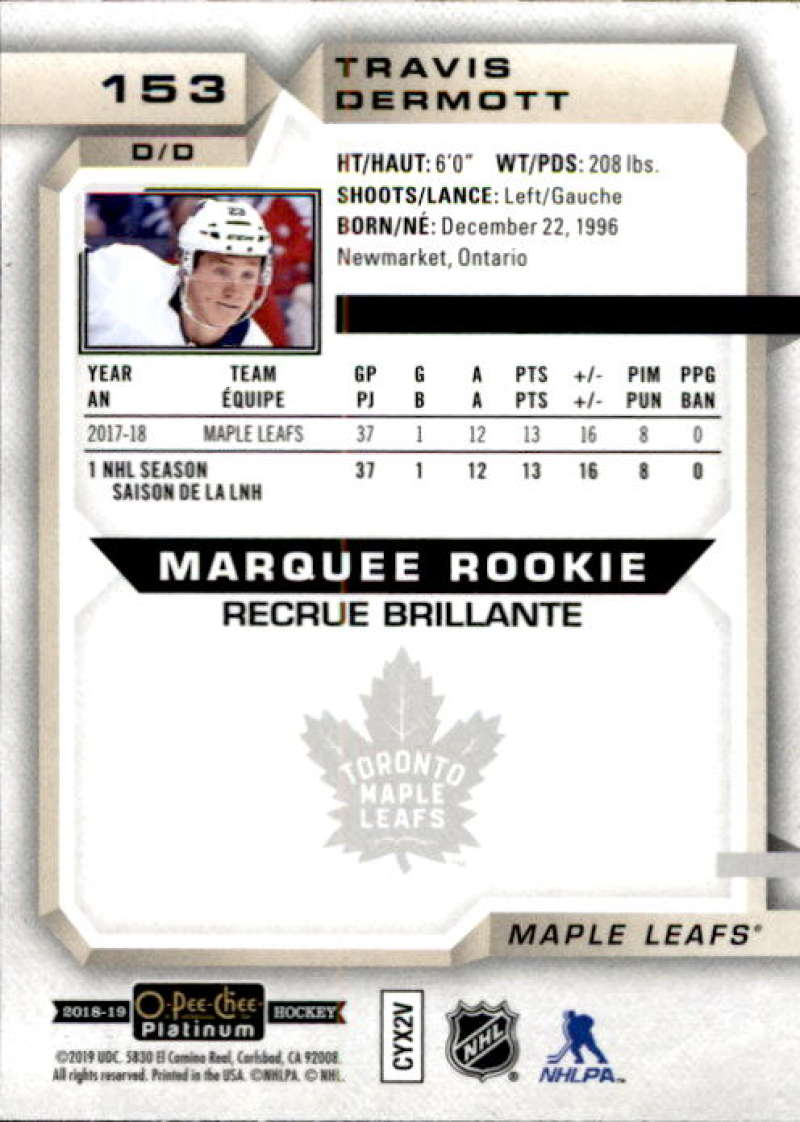 2018-19-O-Pee-Chee-Platinum-Hockey-Singles-Marquee-Rookie-Complete-Your-Set miniature 127