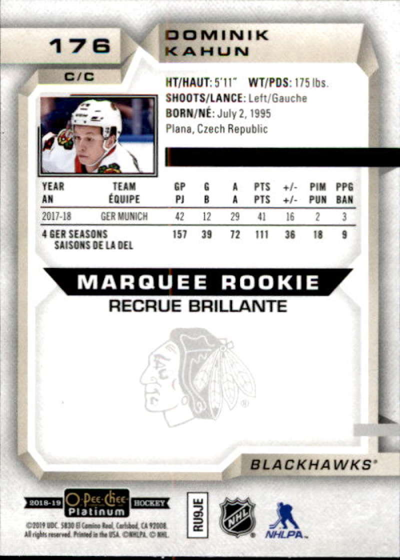 2018-19-O-Pee-Chee-Platinum-Hockey-Singles-Marquee-Rookie-Complete-Your-Set miniature 133