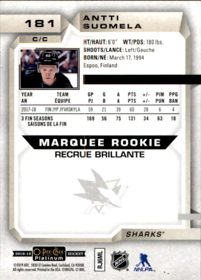 2018-19-O-Pee-Chee-Platinum-Hockey-Singles-Marquee-Rookie-Complete-Your-Set miniature 135