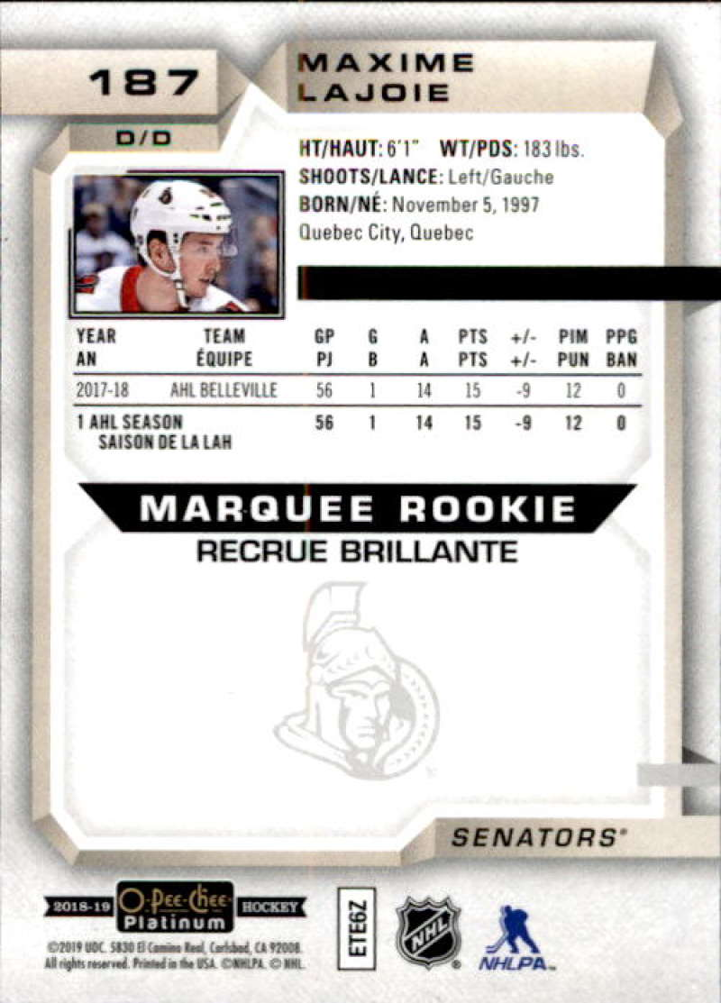 2018-19-O-Pee-Chee-Platinum-Hockey-Singles-Marquee-Rookie-Complete-Your-Set miniature 141