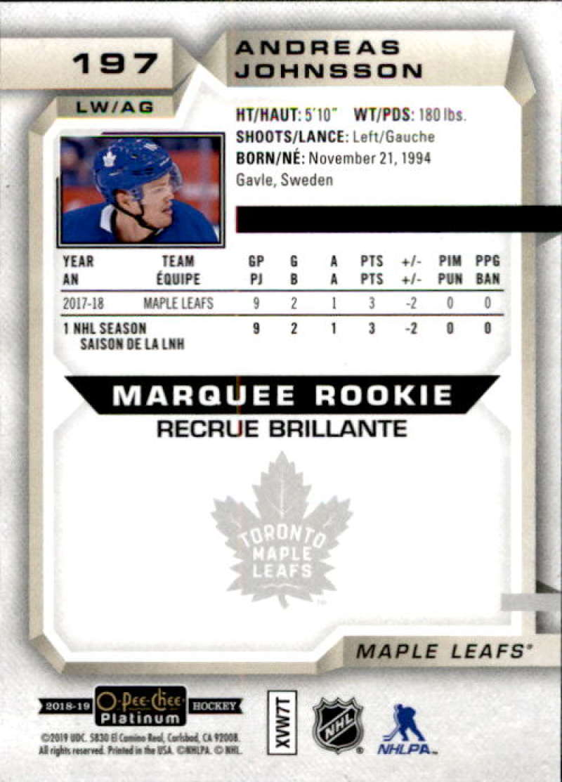 2018-19-O-Pee-Chee-Platinum-Hockey-Singles-Marquee-Rookie-Complete-Your-Set miniature 149