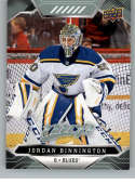 2019-20 UD MVP Hockey #99 Jordan Binnington St. Louis Blues  Official Upper Deck NHL Trading Card