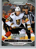 2019-20 UD MVP Hockey #130 William Karlsson Vegas Golden Knights  Official Upper Deck NHL Trading Card