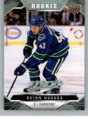 2019-20 UD MVP Hockey Short Print #248 Quinn Hughes Vancouver Canucks  RC Rookie SP  Official Upper Deck NHL Trading Card