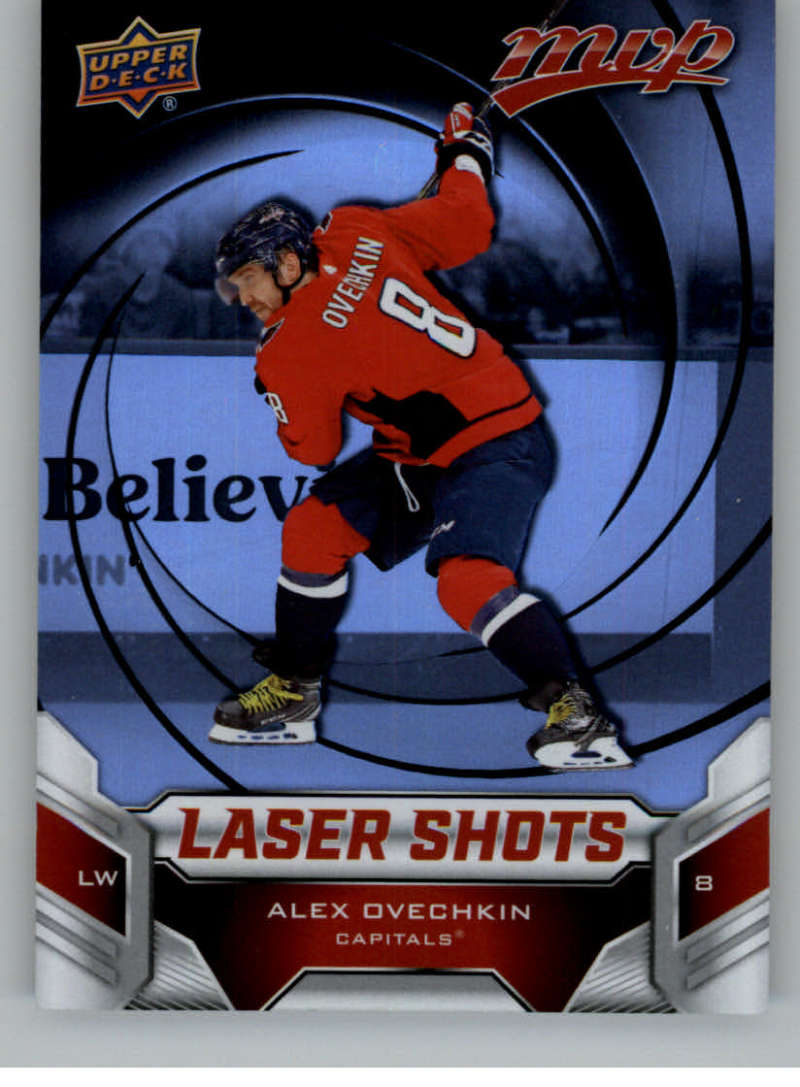 2019-20 Upper Deck MVP Laser Shots Red