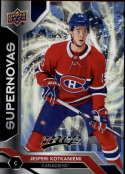 2019-20 UD MVP NHL Supernovas #SN-15 Jesperi Kotkaniemi Montreal Canadiens Official Upper Deck Hockey Card