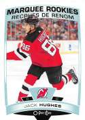 2019-20 O-Pee-Chee Update OPC Hockey #611 Jack Hughes RC Rookie New Jersey Devils  Official NHL Trading Card made by Upper Deck